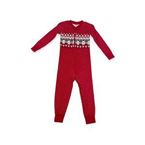 Hanna Andersson Holiday Christmas Red Fair Isle Pajamas 90 3 3T Zip Sleeper