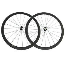 38mm Clincher 23mm Wide 700C Road Bike Carbon Wheels with Powerway R13 Hub Cn424