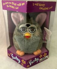 1st Generation Rare Furby 1998 Model 70-800 Grey with Pink Ears Tiger New in Box