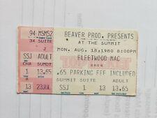 1980 Fleetwood Mac Concert Ticket Stub Houston Texas Summit