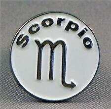 SCORPIO - PIN BADGE  - ZODIAC STARS STAR SIGN ASTROLOGY CONSTELLATION  (AB-36)