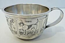 Wm. Kerr & Co.Sterling Child'S Cup W/ Panels Of Farm Animals Around Body