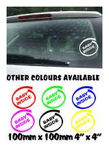 Baby inside on board Funny Car/Bumper/Window JDM VW EURO Vinyl Decal Sticker