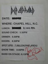 Vivian Campbell signed Def Leppard at Chapel Hill, Nc 3/13/93 Advertisement Coa