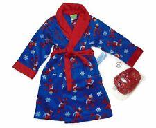 Sesame Street Elmo Boys' Plush Fleece Bathrobe and Slipper Set, Size 3T