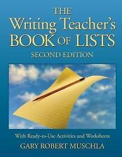 J-B Ed Book of Lists Ser.: The Writing Teacher's Book of Lists : With...