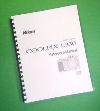 Nikon L330 Coolpix Camera 184 Page Laser 8.5X11