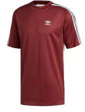 Adidas Men's Originals B-Side Printed-Back Maroon Striped Soccer Jersey Sz:M