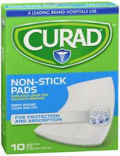 CURAD Telfa Non Stick Pads 3 Inch X 4 Inches 10 Each