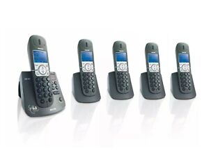 PHILIPS CD445 DECT6.0 5 Handset Cordless Phone with Answering System (A)