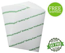 "10-Sheets Heavyweight Blotting Paper Print Head Inkjet Printer Cleaner 8"" x 6"""
