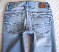American Eagle AE Artist Crop Womens Low rise Super Stretch Denim Jeans size 00