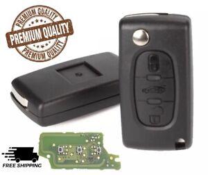 Complete Remote for Peugeot 207 307 407 208 308 408 607 transponder Key & chip