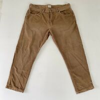 J. Crew Mens Size 36 X 26 Brown Straight Leg Corduroy 5 Pocket Pants 32Y