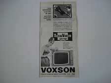 advertising Pubblicità 1960 TELEVISORE VOXSON TOTAL VIDEO 23''