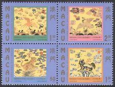 Macau 1998 Military Insignia/Pheasant/Lion/Bear/Birds/Cats/Nature 4v blk (b236)