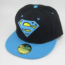 New DC Comics Blue Black Adjustable Snapback Superman flat baseball Bill Hat cap
