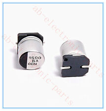 (10PCS) 1500UF 6.3V PANASONIC SMD ALUMINUM ELECTROLYTIC CAPACITORS.10X10.2MM.