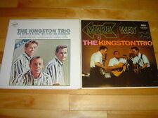 THE KINGSTON TRIO 2 LP LOT ALBUM VINYL COLLECTION Make Way/Patriot Game