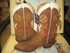 Justin Vintage Mens Western Boots 6307 Brown size 7.5 EE NEW