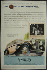 Daimler 4 Litre Saloon Car 1943 1 Page Advert