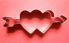 An arrow through two hearts love valentine day baking metal cookie cutter