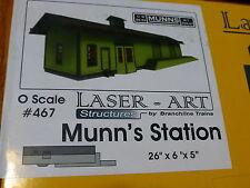 """Branchline O #467 Munn's Station (Kit Form) 26"""" x 6"""" x 5"""" (Laser Art)"""