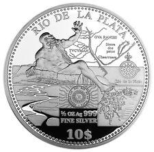 COOK ISLANDS 10 Dollars 2011 Silver PF RIO DE LA PLATA
