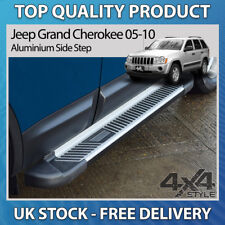 JEEP GRAND CHEROKEE WK 05-10 ALUMINIUM STRIPED SHERWOOD SIDE STEPS RUNNING BOARD