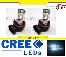 CREE LED 80W H9 White 6000K Two Bulbs Head Light High Beam Replace Show Off Road