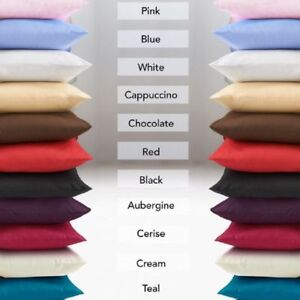 Luxury Plain Polly Cotton Pair of  Pillow Cases High Quality