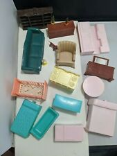 Lot assorted Vintage Plastic Superior renewal Marx Dollhouse Miniature Furniture