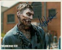 MICHAEL KOSKE hand-signed WALKING DEAD 8x10 w/ uacc rd coa CLOSEUP AS A WALKER