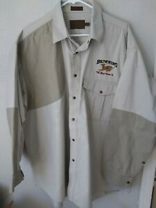 Browning Super Naturals Men's 2XL Hunting Shooting Shirt Button Up Outdoor Sport
