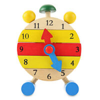 Kids Toys Wooden Clock  Montessori Number Time Learning Children Detachable