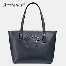 NWT Coach F28988 mini City Zip Tote Midnight Leather + 25% off your next order*