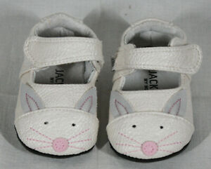 JACK & LILY MY MOC'S INFANT GIRLS CAT SHOES SIZE 0-6 MONTHS NEW IN BOX