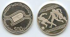 GS700 - Ungarn 500 Forint 1981 BP KM#625 Fussball WM 1982 Silber Hungary Magyar