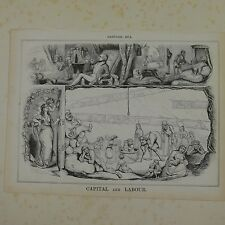 "7x10"" punch cartoon 1843 CAPITAL AND LABOUR"