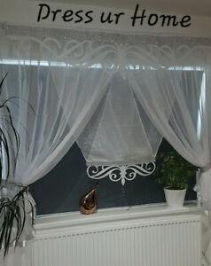 Novelty amazing set net curtain with panel and decor any room window firany