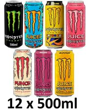 MONSTER Energy Drink FULL Case 12x500ml - Variety of Flavours + FREE Shipping