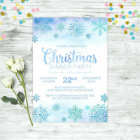 CHRISTMAS INVITATION PERSONALISED FROZEN SNOWFLAKE PARTY SUPPLIES CUSTOM INVITE