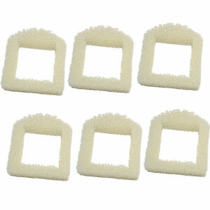 6-Pack Foam Pre-Filter for Drinkwell Sedona PWW00-15417, Stainless Steel 360