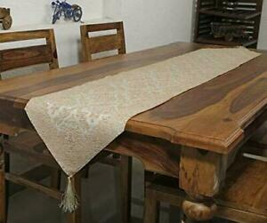 Van Heusen Runner 14x72 inches Dining Table Polyester Machine Washable Beige