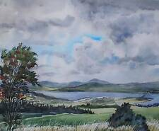 Across an Estuary Possibly Skye Watercolour Painting Indistinctly Signed 1986