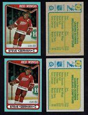"""1990-91 OPC Box-bottoms, """"J"""", Red Wings' Steve Yzerman, Both Shade Varieties..."""