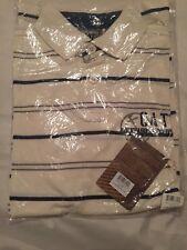 CAT Stripe polo Shirt Size Small