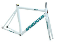 Bianchi Super Pista Frameset Satin White 51cm Track Frame Carbon Fork NEW in Box