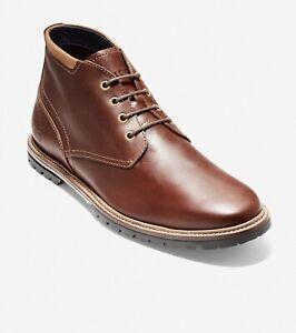 Cole Haan Men Chukka Boots Ripley Grand Chukka Cognac Leather C28335