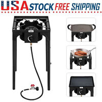 75,000 BTU High Pressure Propane Gas Cooker Outdoor Camping Cooking Burner Stove